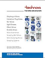 Technova lined valves and components brochure